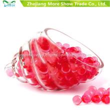 Bola de Gel Bala Mini Rodada Cristal Vermelho Soil Água Beads