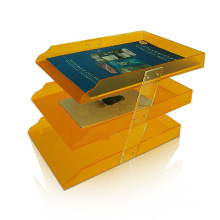 Rotatable Acrylic Display Holder for Leaflet