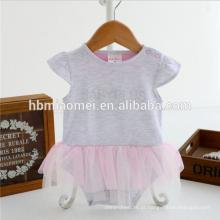 Nova chegada infantil baby girl romper uma peça new born romper meninas macacão com 100% algodão