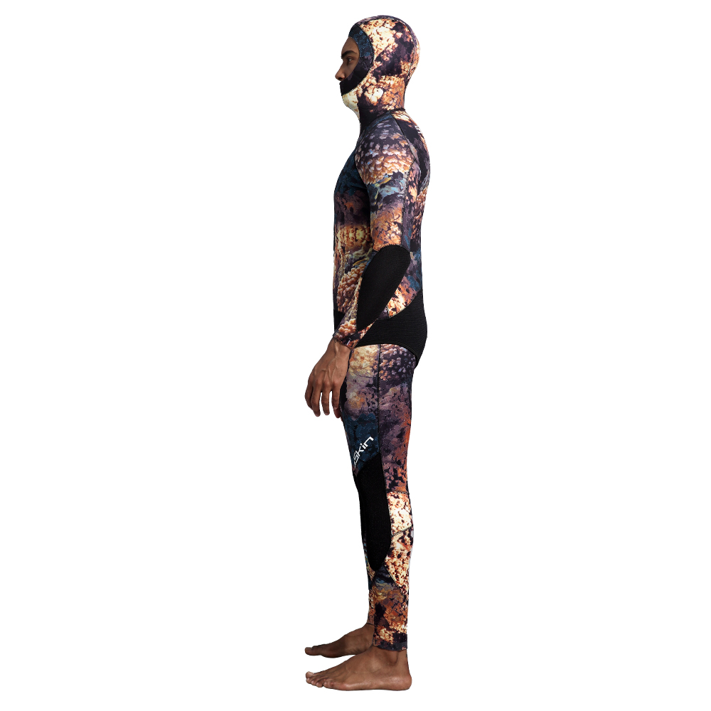 Two Pieces Hooded Spearfishing Wetsuit