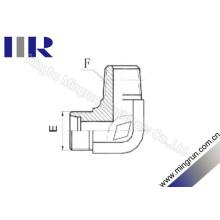 Adaptador de tubo macho de 90 graus para cotovelo métrico / NPT (1CN9)