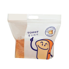 Reusable Customized Printed Toast Paper Packaging Bag With Clear Plastic Windows Package Bag For Roasted Toast