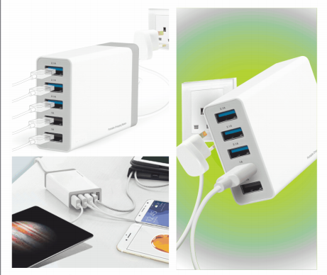 40 Watt 5 Port Usb Charger