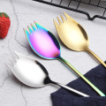 304 emas plating logam spork stainless steel