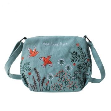 Flower Princess Women Canvas Bag Ricamo