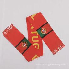 Écharpe de sport en gros en polyester avec logo personnalisé à faible MOQ