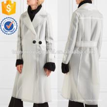 Belted Rubberized PU Coat Manufacture Wholesale Fashion Women Apparel (TA3018C)