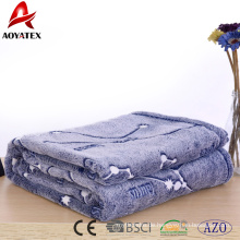 Online-Shop China 100% Polyester-Fleece-Druck Plüsch Minky Flanell Decke
