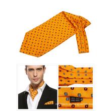 100% seda impresa Ascot Tie Mens Cravat