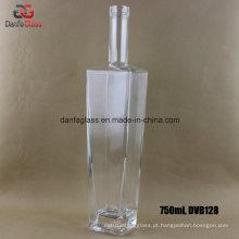 750ml Rectangle / garrafas retangulares de licor de vidro