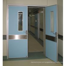 Porta alinhada dobro do hospital hermético dobro