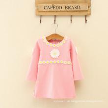 china meninas fotos vestido um monte meninas manga cheia pequena margarida appliqued novos modelos para mamãe e filhas