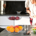Stainless steel hollow kitchen fruit basket metal stainless steel wire fruit basket