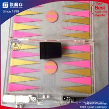 Caja clara de la bandeja del acrílico, organizador del maquillaje