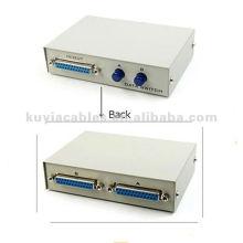 2 порта 25 контактов DB25 Параллельный переключатель принтера