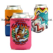 Custom Full Color Sublimation Neoprene Bottle Can Cooler