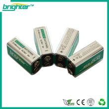 9v 6LR61 bateria alcalina fabricada na China