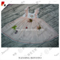 Girls embroidered ruffle sleeves smocking dress