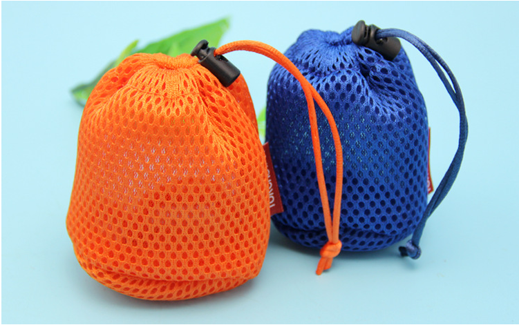 Mesh Drawstring Pouch Bag
