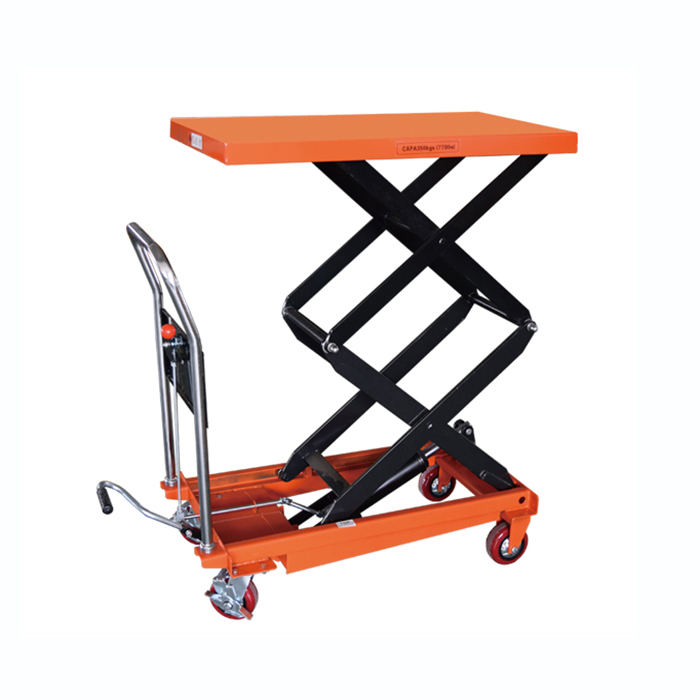 double scissor lift table trolley