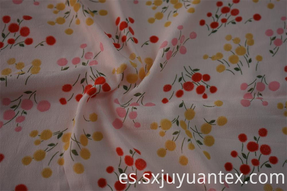 Eco-Friendly Morocian Crepe Print Fabric