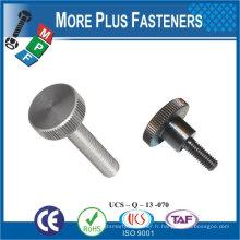 Taiwan Laiton en acier inoxydable à fente 8-32 x 3/4 L Vis à tête moletée Vis à vis moletée décorative