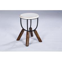 Taburete de madera de la mejor calidad del color blanco industrial