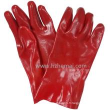 Gants pleine preuve à l'huile creuse Gants en PVC rouge Gant de travail de sécurité