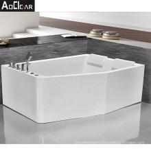 Aokeliya acrylic modern fancy luxury whirpool massage bath tub for 2 persons