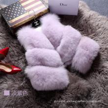 2016 Moda Señora Vest Mujeres Outwear Fur Waistcoat Invierno Primavera