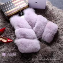 2016 Мода леди жилет женщин Outwear мех жилет Зимняя весна
