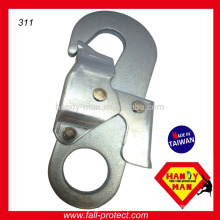 Stamped Large Industrial Metal Steel Double Action Safety Snap Hook
