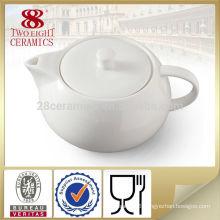 white or decal bone china tea pot for dubai