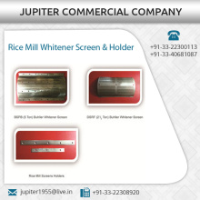 Long Lasting Rice Mill/ Huller Whitener Screen and Holder Available in Different Attachments
