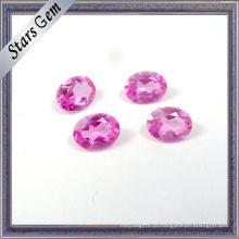 Rubi sintético de qualidade superior # 2 cor-de-rosa para joalharia