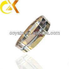 Shinny bracelete de aço inoxidável puro com ouro e rosa banhado a ouro