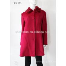 Luxury classic style women Cashmere coat 90% wool warm winter long coat wholesale