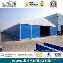 Temporäre Lagerstrukturen 50 X 170m für Lagerung und Werkstatt