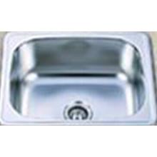 Moderno montado en la parte superior de acero inoxidable lavabo de la cocina (KIS6050B)