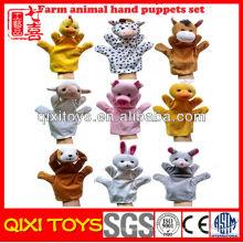 Marionetas de mano de la promoción animales de mano marionetas para la venta