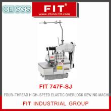 Máquina de costura Overlock elástico de alta velocidade de quatro-Thread (ajuste 747F-SJ)