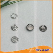 Prong Snap Button/Gripper with Metal Cap MPC1039