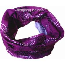 Customized Logo Printed Purple Paisley Seamless Magic Promotional Tube Bandana