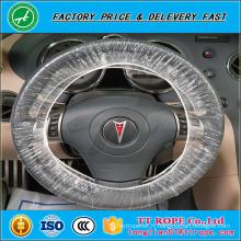 Entretien de voiture jetable en plastique de PE 20mic couverture de volant de voiture