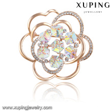 00030-xuping dubai gold plated jewelry Crystals from Swarovski,mother's day brooches pins