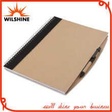 A4 Size Custom Kraft Paper Cover Spiral Notebook for Wholesale (SNB103)