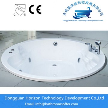 Flushbonading round soaking bathtub
