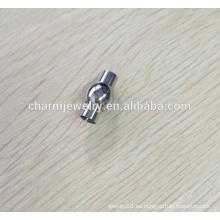BXG007 Corchete magnético del extremo del cable del acero inoxidable - diseño redondo elegante - cabe 2/3/4/5/67 / 8m m Cord