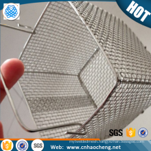 High quality 18/8 stainless steel wire storage basket with lid