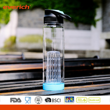 New Design Plastic Water Bottle With Infuser Insert